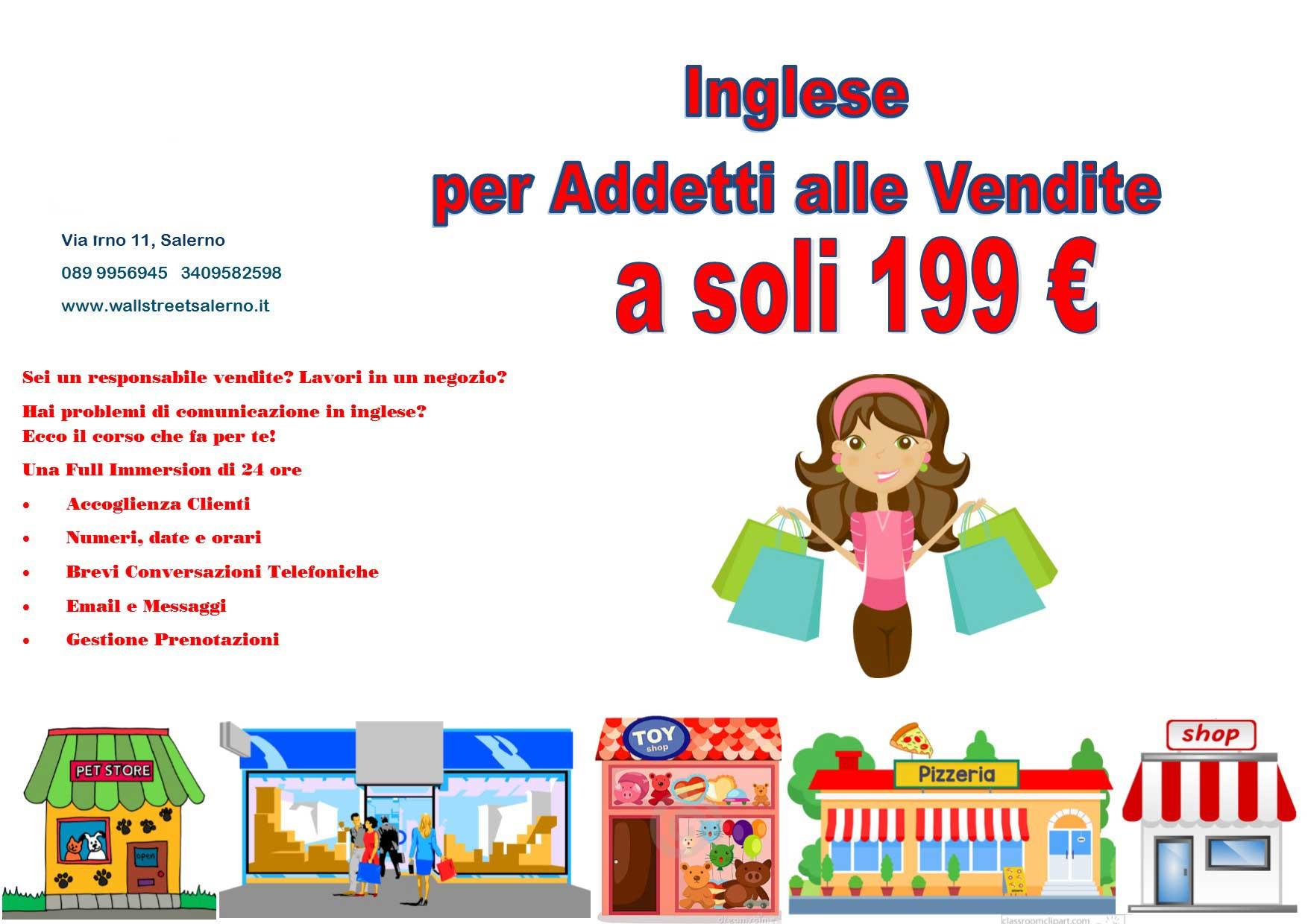 Corso per addetti alle vendite della British School International Salerno