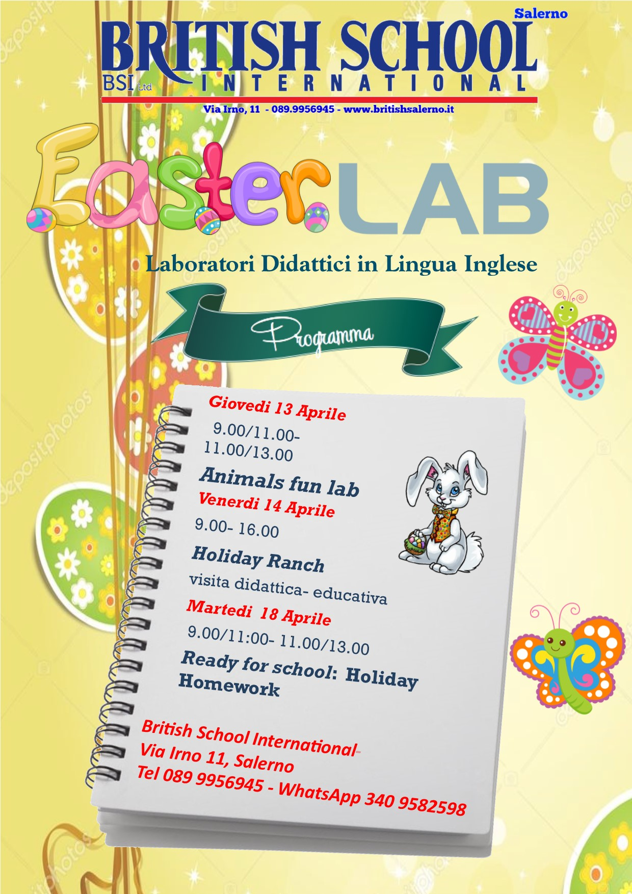 easter lab di british school salerno