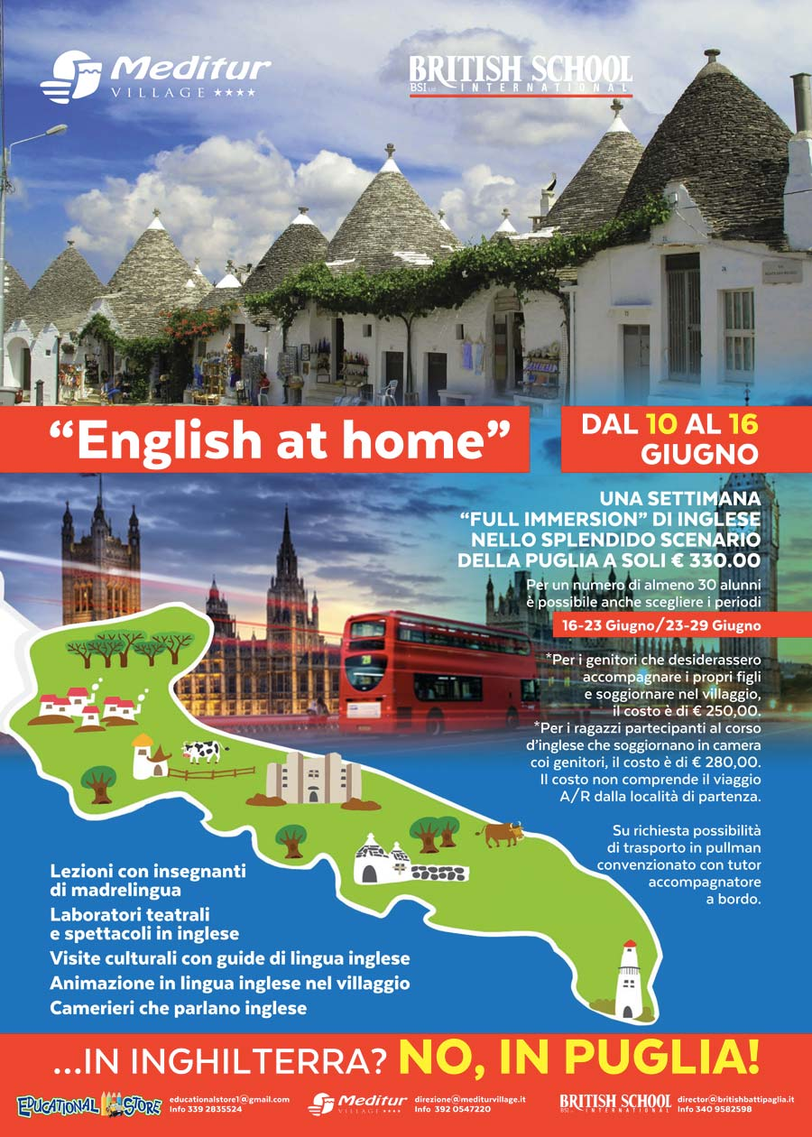 English at Home | British School International Salerno